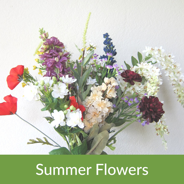 Withycombe Fair Artificial Silk Flowers Stems And Bunches