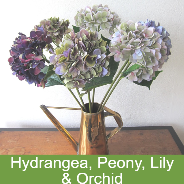 Hydrangeas, Peonies, Lilies & Orchids